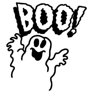 Halloween - szellem 02 matrica kép