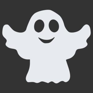 Halloween - szellem 03 matrica kép