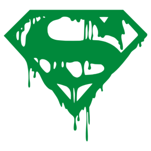 Halott Superman logó matrica kép