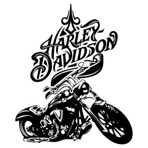 Harley Davidson falmatrica kép
