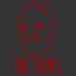 Hide the pain Harold - Nice driving (jól vezetsz) vicces autómatrica kép