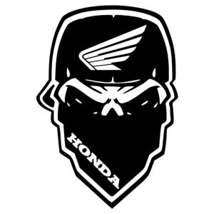 Honda motor gangster matrica kép
