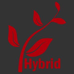 Hybrid felirat levelekkel matrica kép