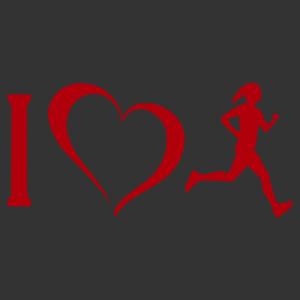 I love futás női matrica kép