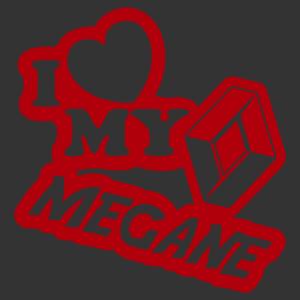 I love my renault (logo) megane matrica kép