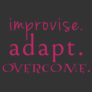 Improvise. Adapt. Overcome. feliratos motivációs falmatrica kép