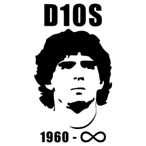In memoriam Diego Maradona arcképes autó- és falmatrica kép