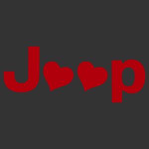 Jeep felirat szívekkel, csajos autómatrica kép