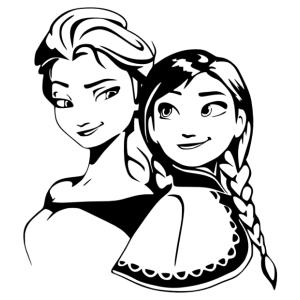 Jégvarázs - Anna és Elza matrica kép