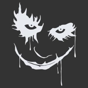 Joker mosolya matrica kép