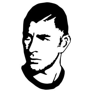 Karim Benzema (Real Madrid) sziluett matrica kép