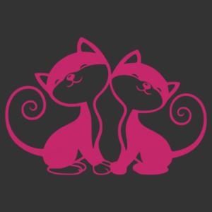 Kedves cicák matrica kép