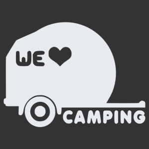 Kempingezés - We love camping autó matrica kép