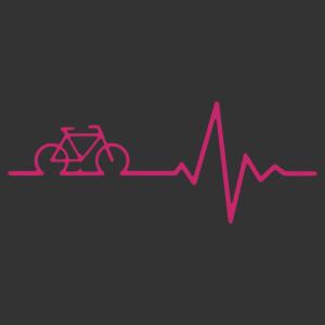 Kerékpár életjel matrica kép