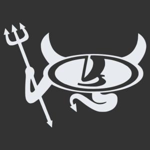 Lada ördög - bal matrica kép