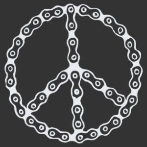 Lánc béke jel matrica kép
