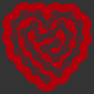 Lánc szív matrica kép