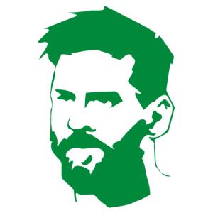 Lionel Messi (FC Barcelona) matrica - szakállas kép