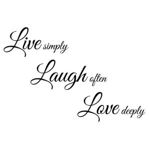 Live laugh love matrica kép