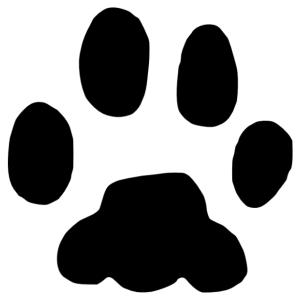 Macska lábnyom 2 matrica kép