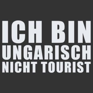 Magyar vagyok, nem turista német feliratos (Ich bin Ungarisch) vicces autómatrica kép