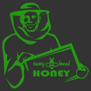 Méhész táblával matrica kép