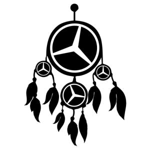 Mercedes álomfogó matrica kép