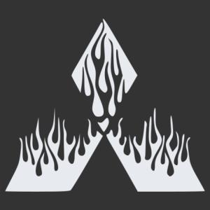 Mitsubishi lángok matrica kép