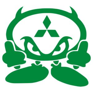 Mitsubishi ördög matrica kép