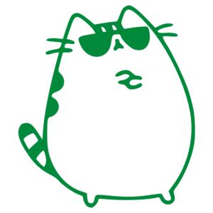 Napszemüveges macska cuki csajos matrica kép
