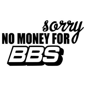 No BBS sorry matrica kép