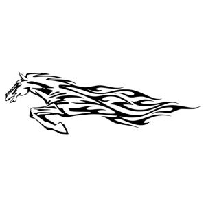 Nonfiguratív ló matrica kép