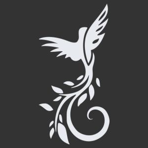 Nonfiguratív madár matrica kép
