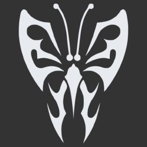Nonfiguratív pillangó matrica kép
