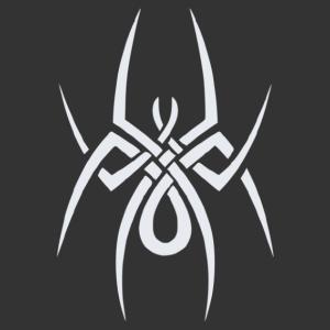 Nonfiguratív pók matrica kép