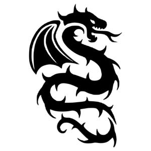 Nonfiguratív sárkány 01 matrica kép