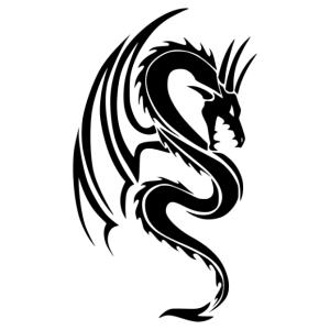 Nonfiguratív sárkány 03 matrica kép