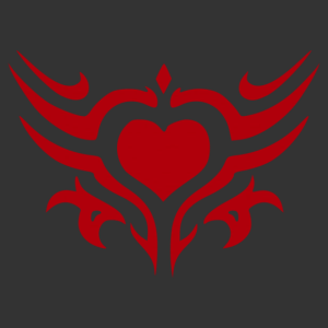 Nonfiguratív szív 01 matrica kép