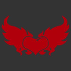 Nonfiguratív szív 02 matrica kép