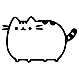 Pusheen cicás falmatrica kép