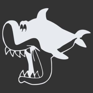 Rajzfilm figura cápa falmatrica kép