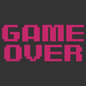 Retro Game Over feliratos matrica kép
