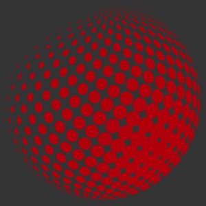 Retro gömb - optikai csalódás 1 falmatrica kép