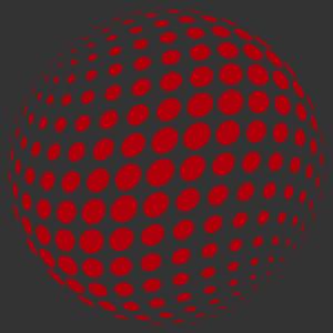 Retro gömb - optikai csalódás 3 falmatrica kép