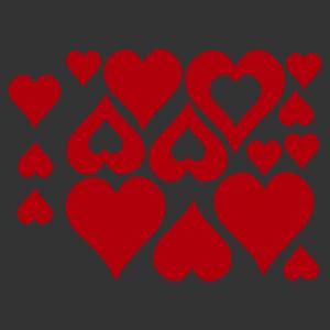 Retro hippi szív motívumos falmatrica kép