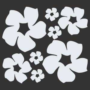Retro hippi virágok matrica kép
