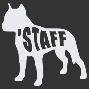 Staffordshire terrier állatos matrica kép