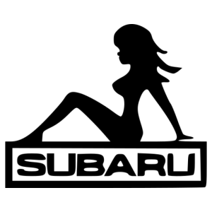 Subaru girl matrica kép