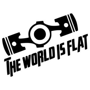 Subaru world is flat matrica kép