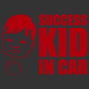 Success kid in car mém autómatrica kép